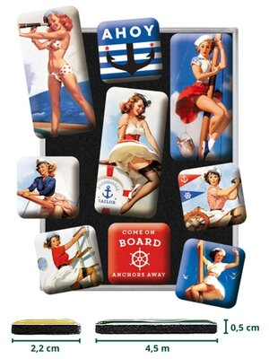 Pin Up Ahoy Magnet Set