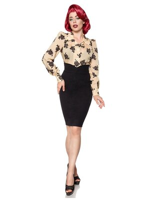 Belsira Pencil Skirt Schwarz