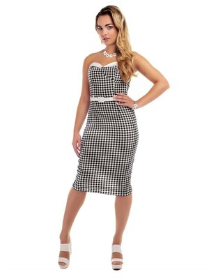 Collectif Monica Gingham Kleid