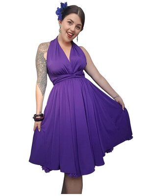 Sleeveless Dress Purple