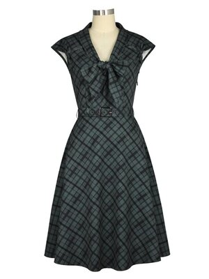Retro 1940s Dress Grey
