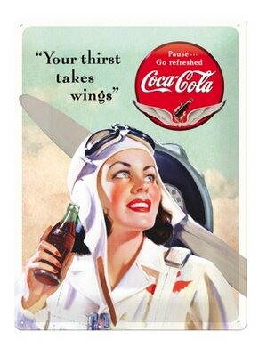 Coca-Cola Takes Wings Lady