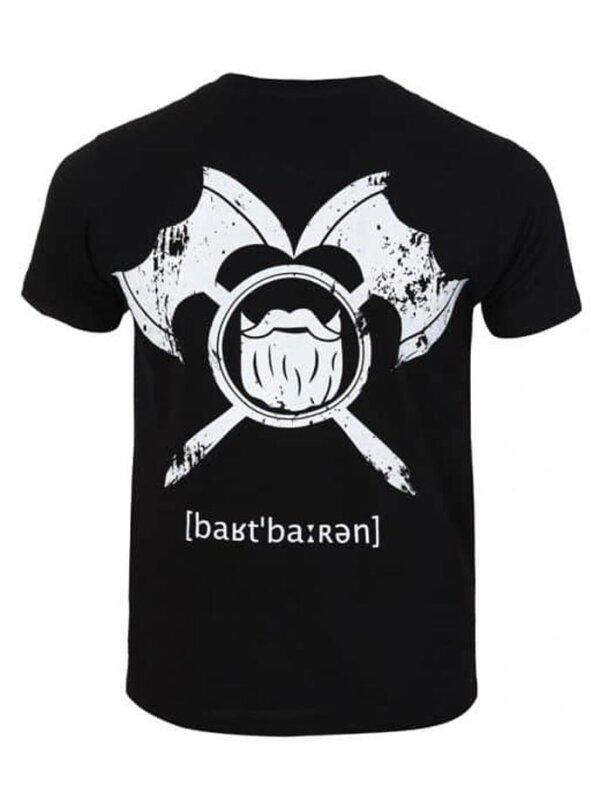 barTbaren Big Back T-Shirt Schwarz
