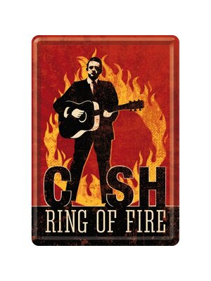 Johnny Cash- Ring of Fire Blechpostkarte