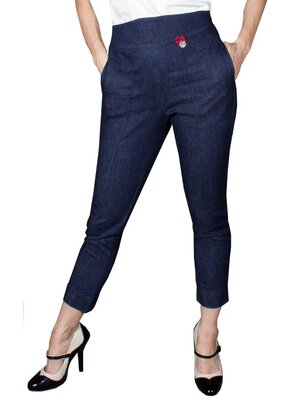 Ladies Denim 7/8 Bleistifthose