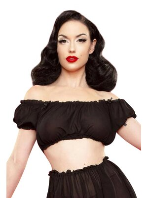 Bettie Page Retro Lounge Top
