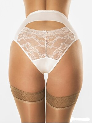 Betty Peekaboo Knickers Weiss