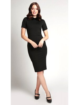 Collectif Katy Pencil Dress Schwarz