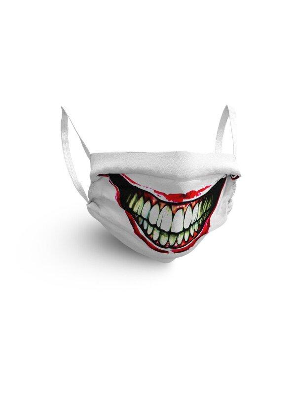 Gesichtsmaske mit fiesem Grinsenmotiv