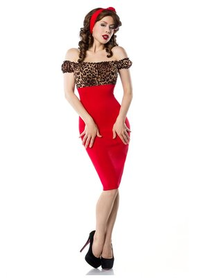 Pencil-Kleid Rot