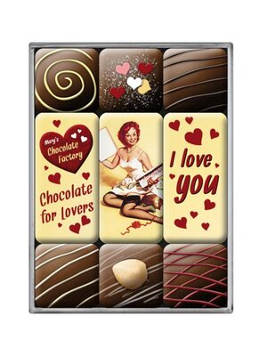 I love you Chocolate Magnet-Set