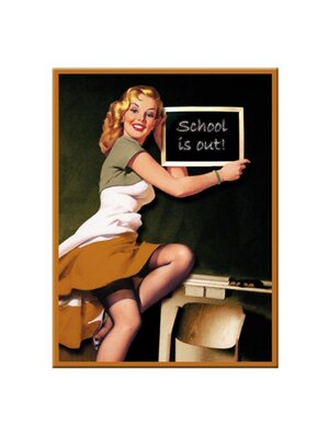 Pin Up School Magnet