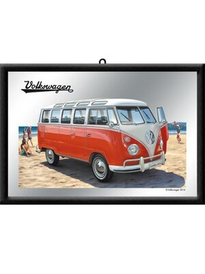 vw bulli samba bus beach spiegel 14 95 rockabilly. Black Bedroom Furniture Sets. Home Design Ideas